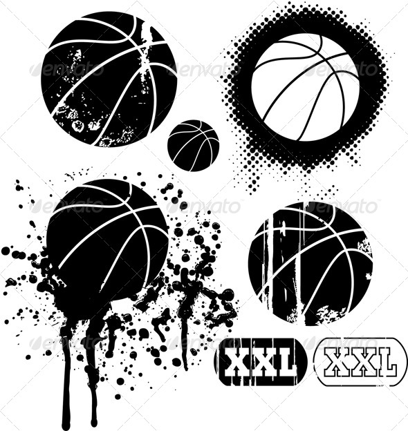 Stock Vector   Graphicriver Basketball Grunge Designs 6210178