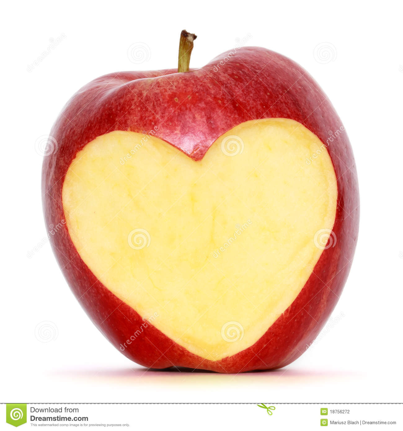 Apple With Heart Stock Photography   Image  18756272