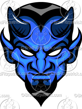 Blue Devils Clip Art   Blue Devil Graphics   Blue Devil Mascot