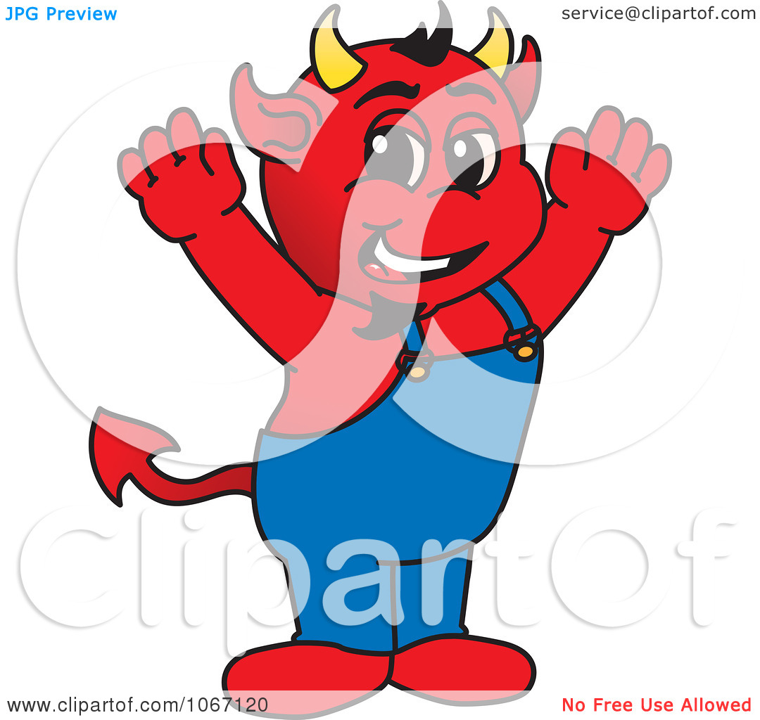 Clipart Happy Devil Mascot   Royalty Free Vector Illustration By