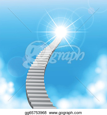 Clipart   Vector Illustration Of The Stairway To Heaven   Stock