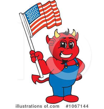 Devil Mascot Clipart  1067144 By Toons4biz   Royalty Free  Rf  Stock