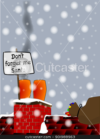 Don T Forget Me Santa  Stock Vector Clipart  Don T Forget Me Santa