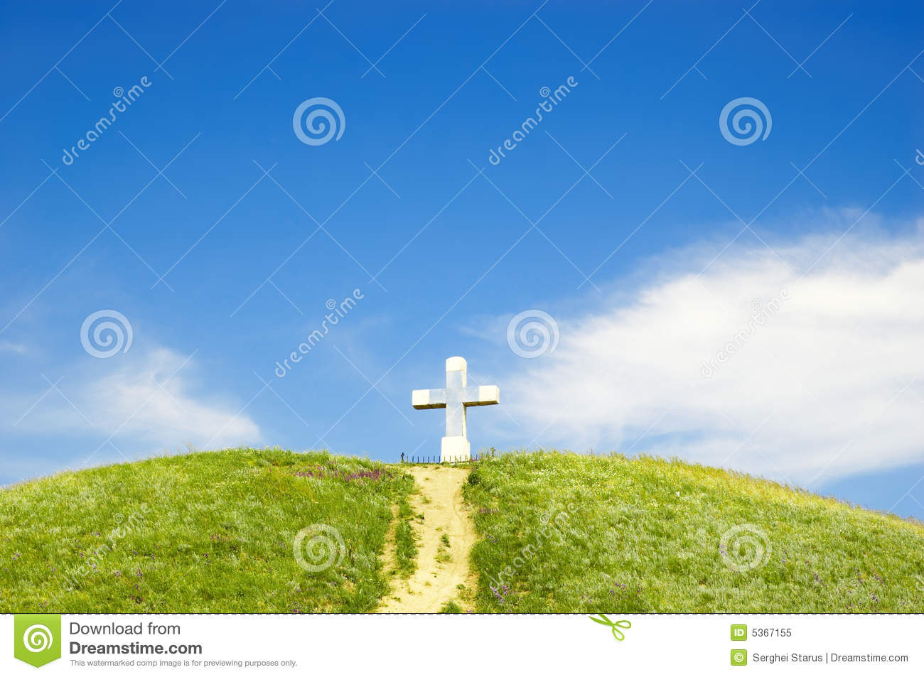 Path To The Cross Royalty Free Stock Photo   Image  5367155
