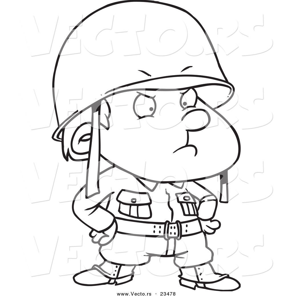 Soldier boy clipart clipart suggest for Coloring pages of army soldiers