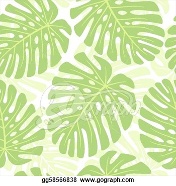 Stock Illustration   Leaves Of Tropical Plant   Monstera  Seamless