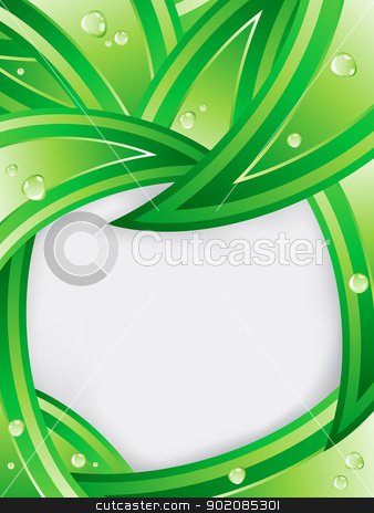 Tropical Leaves Ecology Background  Stock Vector Clipart Tropical