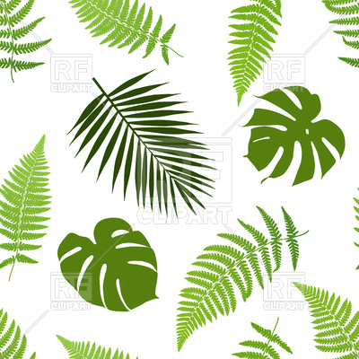 Tropical Leaves Seamless Pattern 98877 Download Royalty Free Vector