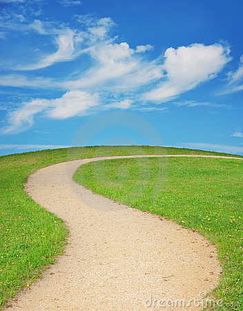 Winding Pathway Clipart Winding Footpath Royalty Free Stock