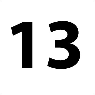 Unlucky Number 13 Clip Art – Cliparts