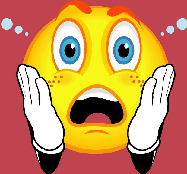 Shocked Face Clipart - Clipart Kid