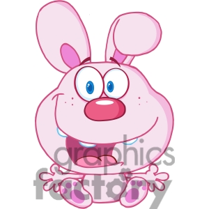 Bunny Rabbit Face With A Purple Flower By The Ear Clipart On Pinterest