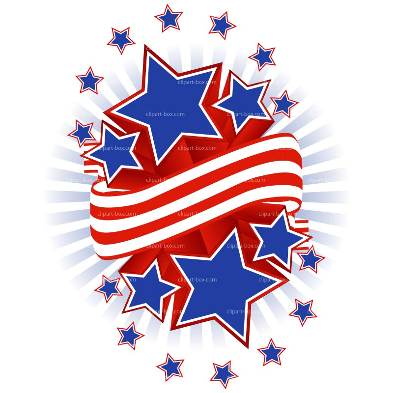 Clipart Stars And Stripes   Royalty Free Vector Design