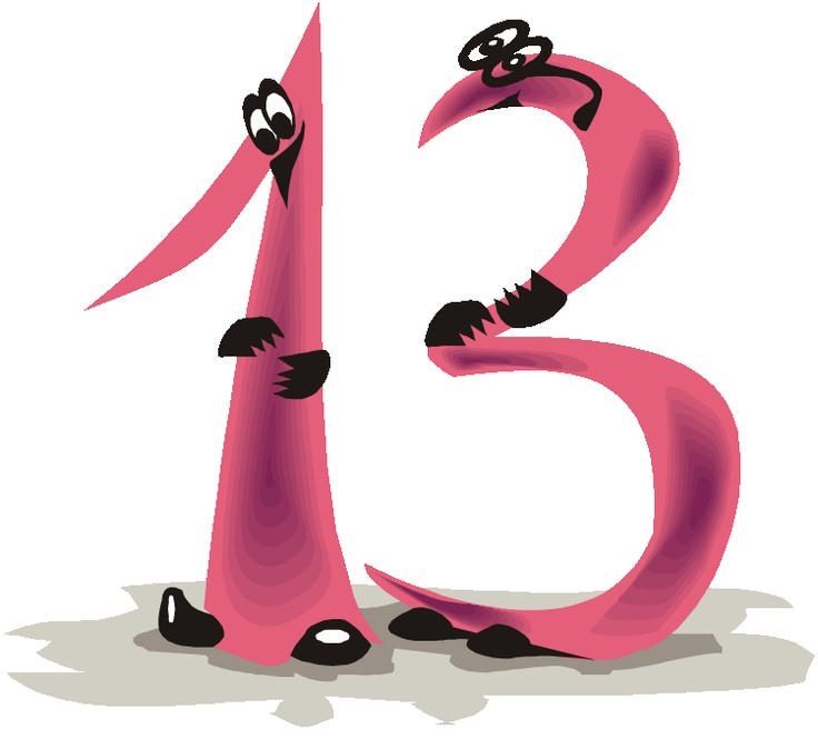 Lucky Number 13 Clipart - Clipart Suggest