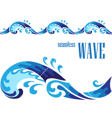 Decorative Wave Vector By Magenta10   Image  966521   Vectorstock