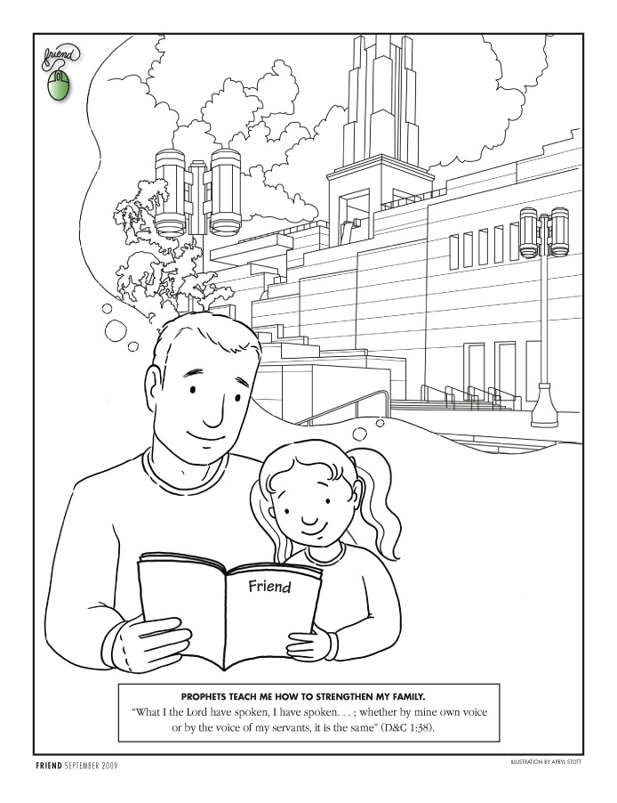 Lds sabbath day activities clipart clipart suggest for Lds holy ghost coloring page