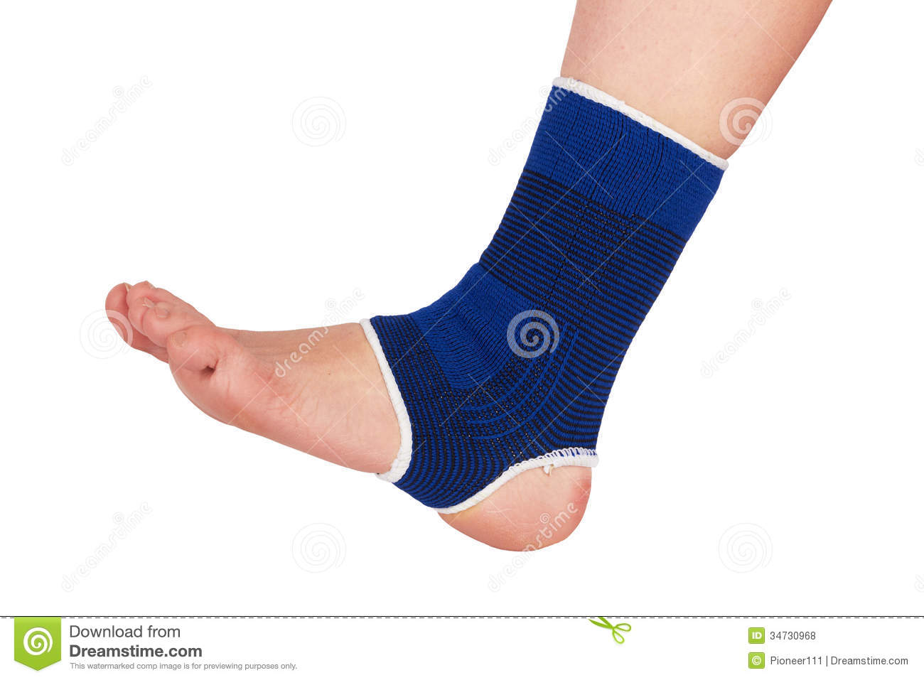 Leg In A Bandage Royalty Free Stock Photos   Image  34730968