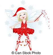 Little Christmas Fairy   Cute Christmas Fairy Flying All
