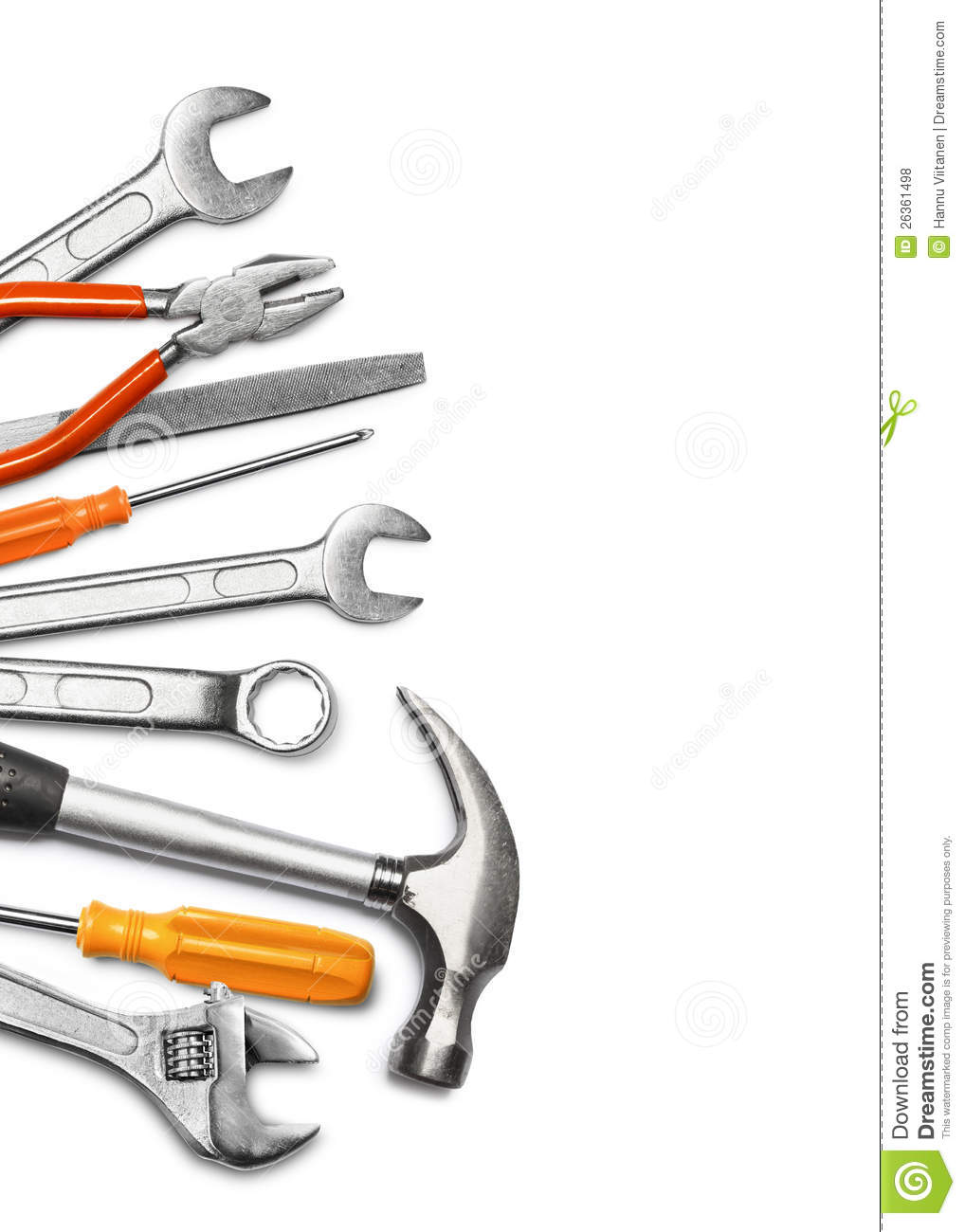 Mechanic Tools On White Royalty Free Stock Photos   Image  26361498
