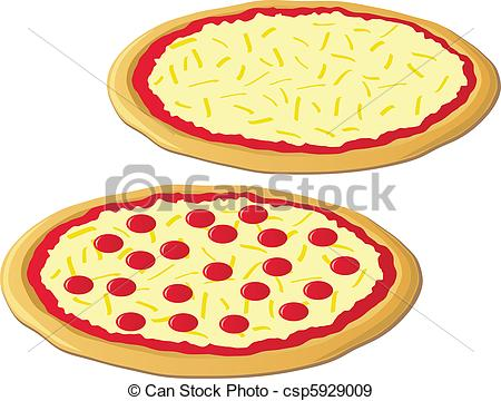 Clip Art Cheese Pizza Clipart cheese pizza clipart kid of two delicious pizzas one and pepperoni pizza