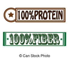 Protein And Fiber   Stamp With Words Protein And Fiber