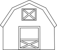 ... Barn More Houses Black And White Clip Art Farm Barn - Clipart Kid