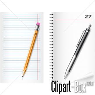 Clipart Pen And Notebook   Royalty Free Vector Design