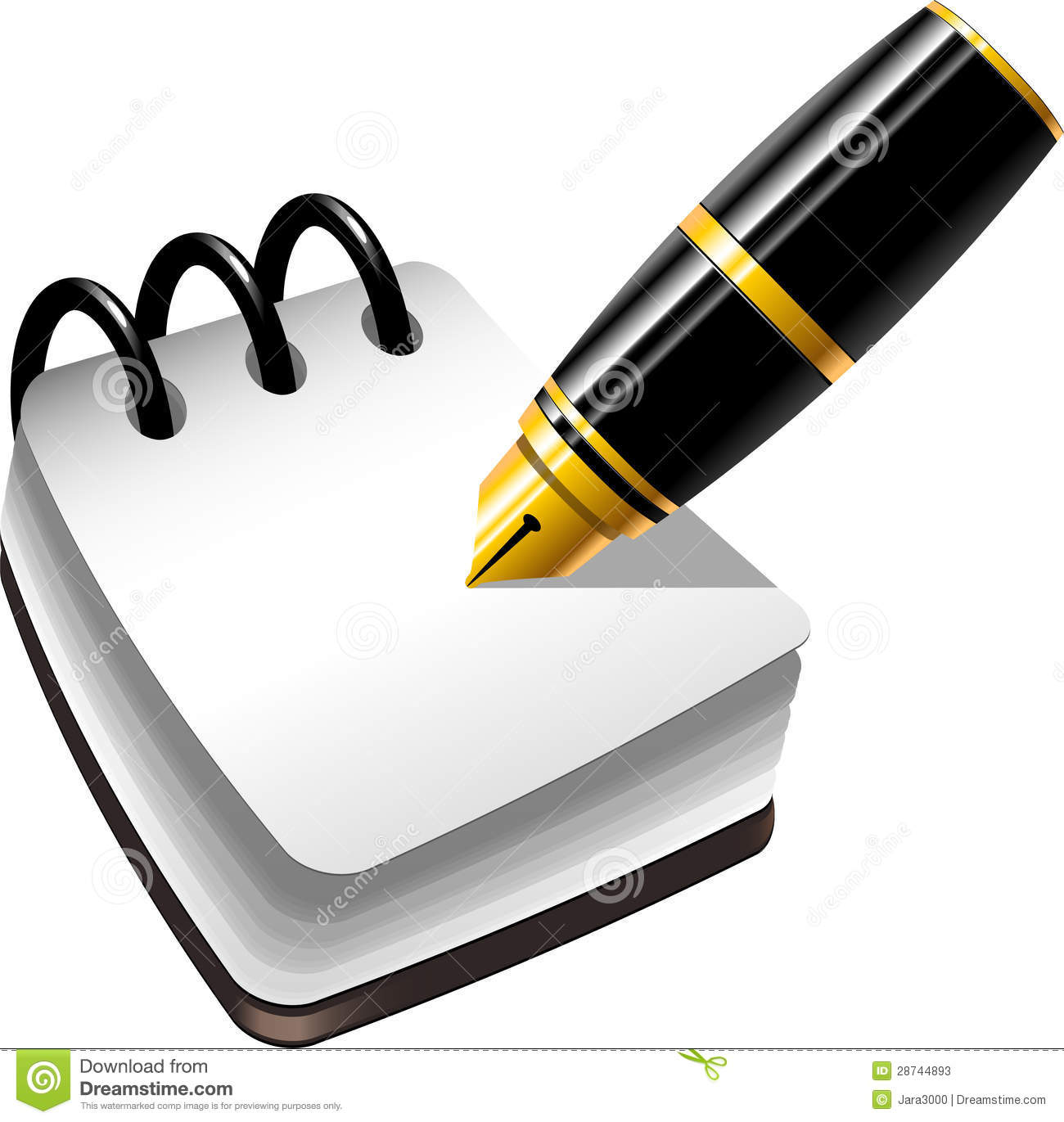 Notebook And Pen Stock Photos   Image  28744893