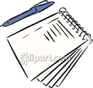 Notebook Clipart A Pen And A Spiral Notebook Royalty Free Clipart