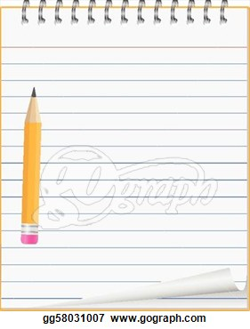 Notebook Paper Clipart Paper Notebook With Small Pen