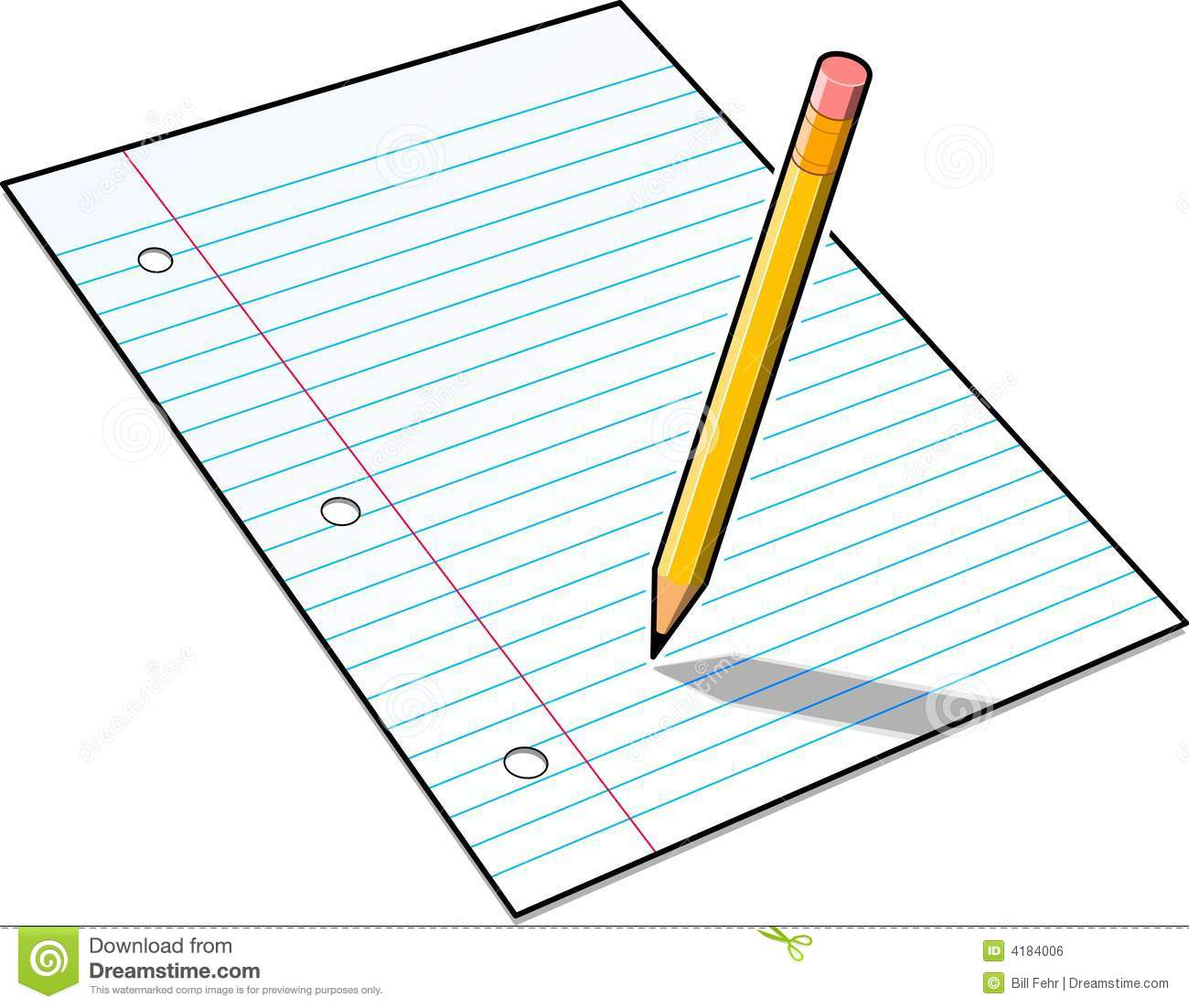 Pencil And Paper Royalty Free Stock Image   Image  4184006