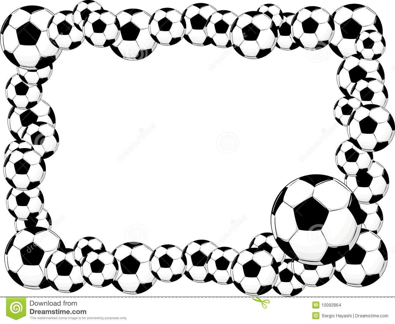 soccer border clipart