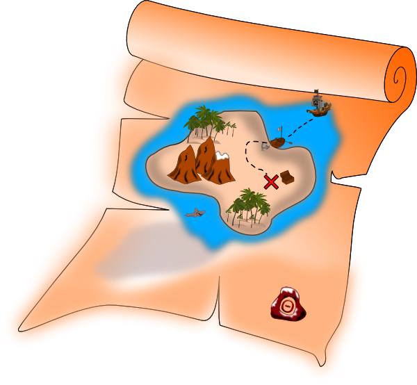 Treasure Map Clip Art   Images   Free For Commercial Use