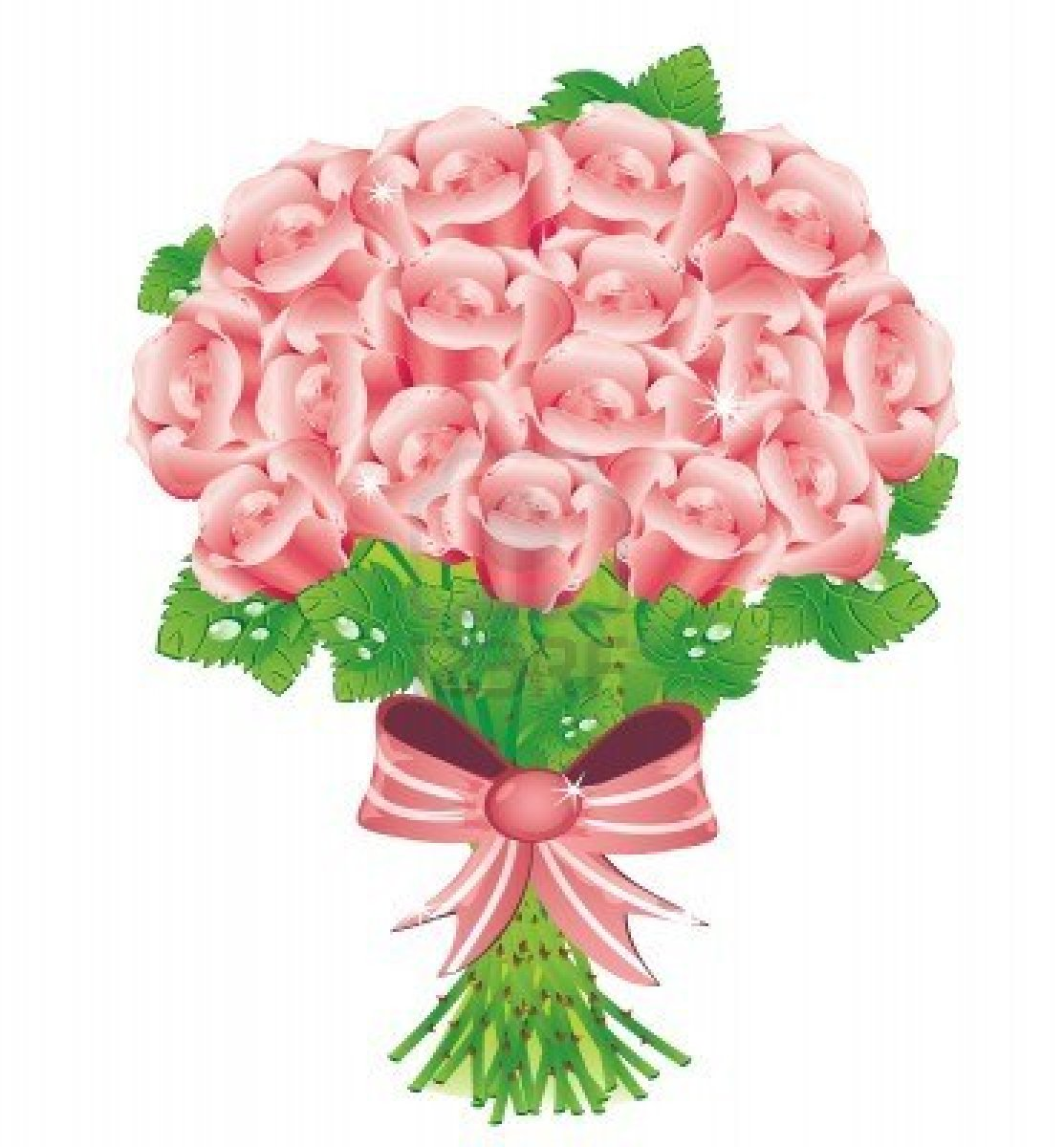 Pink Rose Bouquet Clip Art – Cliparts