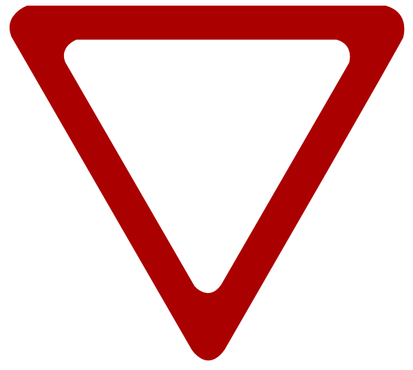 Yield Sign Outline Images & Pictures - Becuo Loading