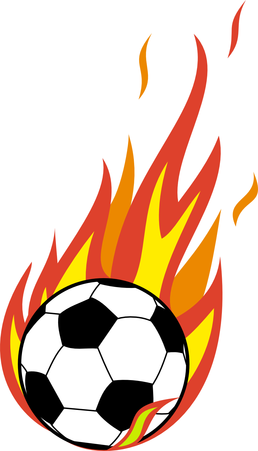 Flaming Soccer Ball Clipart - Clipart Kid