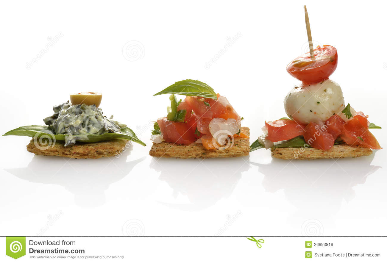 Appetizers With Crackers Royalty Free Stock Image   Image  26693816