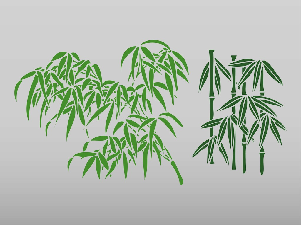 Bamboo Leaves Logo Bamboo Leaf Clip Art