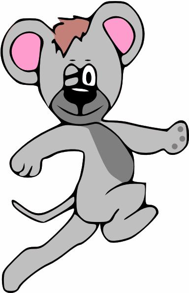Cartoon Mouse Running Clip Art At Clker Com   Vector Clip Art Online