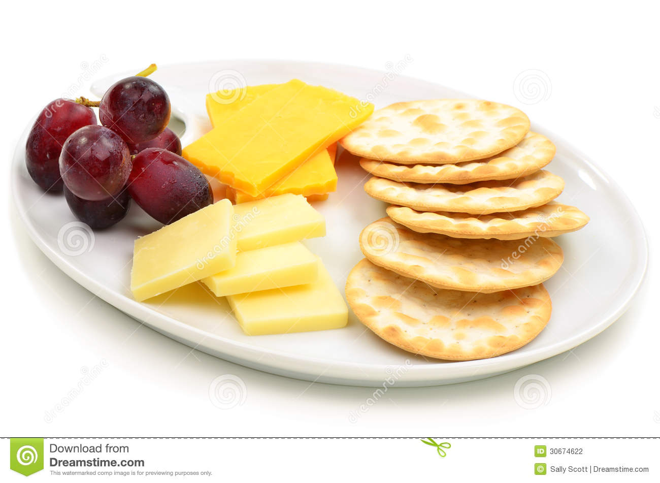 Cheese And Crackers Stock Photography   Image  30674622