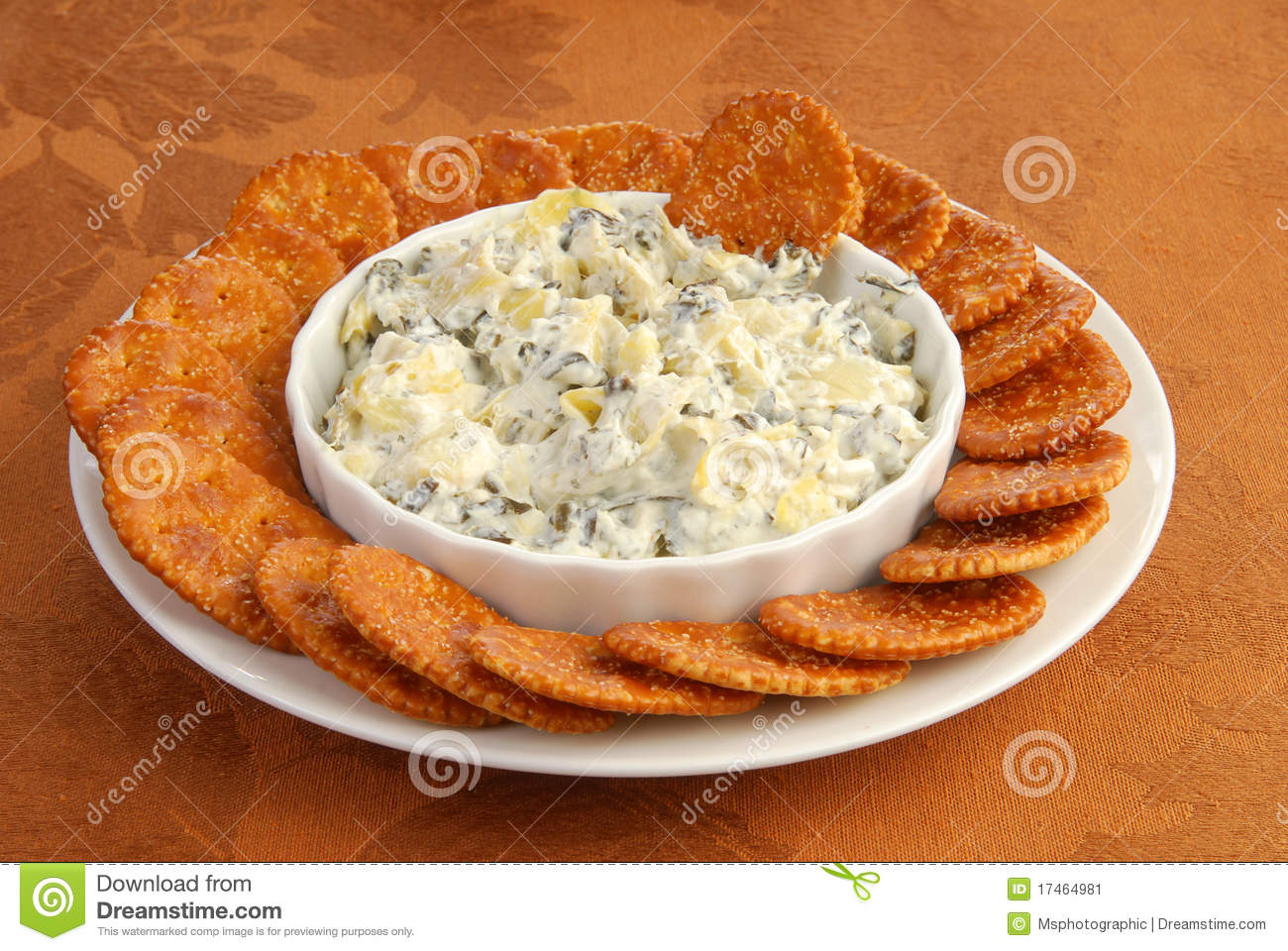 Crackers And Dip Stock Image   Image  17464981