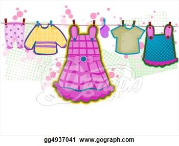Drawing   Baby Girl Clothes  Clipart Drawing Gg4937041   Gograph