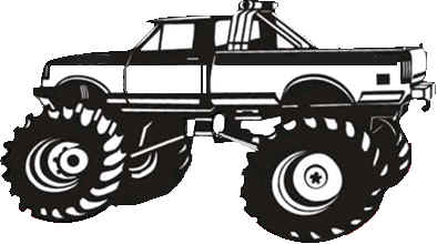 monster truck black and white clipart clipart suggest