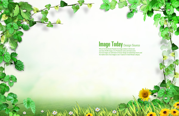 Pics Photos   Powerpoint Frames Borders S Green Leaf Border Ppt Slide