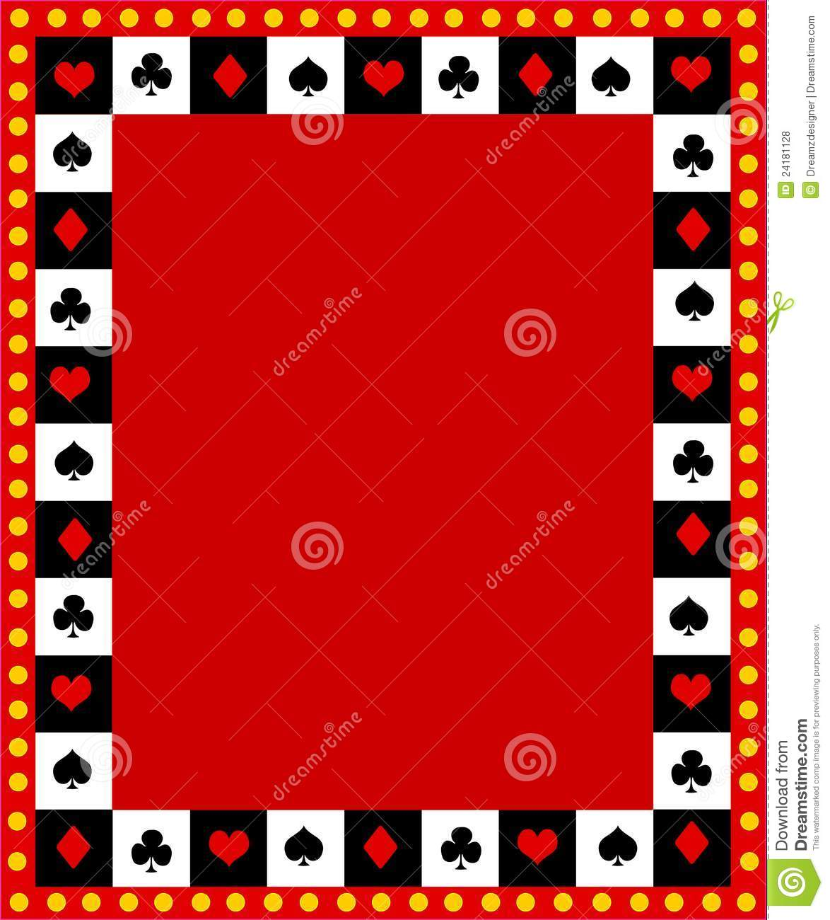 Playing Cards Clipart Border Poker Playing Cards Border