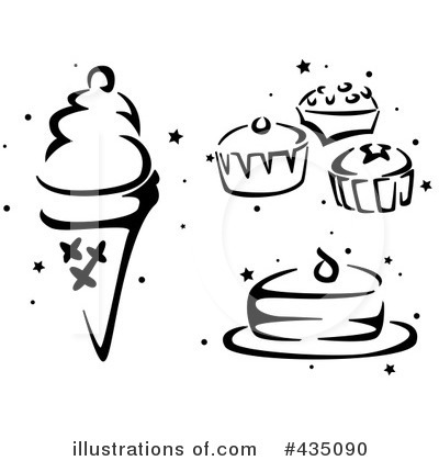 Clip Art Black And White Christmas Treats Clipart ...