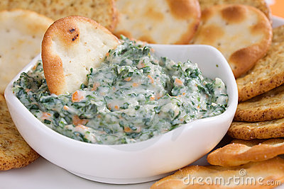Spinach Dip   Crackers Stock Photography   Image  12629322