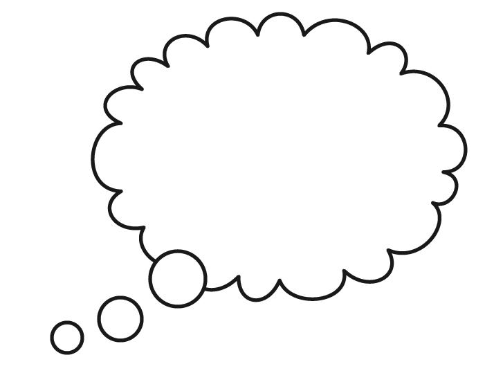 Thought Bubble Outline   Clipart Best