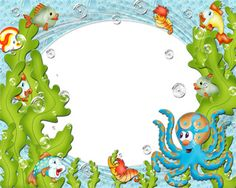 Under The Sea Cartoon Pictures   Under The Sea Frame Theme   Frame 123