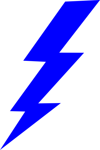 Blue Lightning Bolt Clipart   Clipart Panda   Free Clipart Images